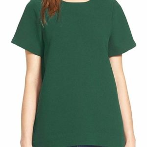 Madewell Short Sleeve Polyester Pleated Back Top